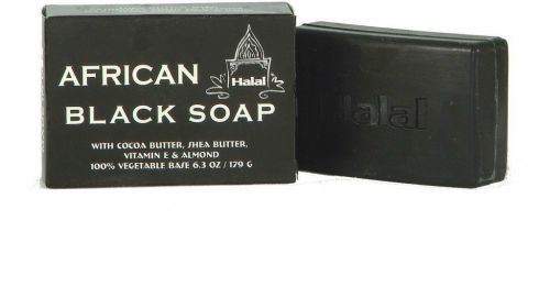 Halal African Black Soap 100% vegetable base 6.3 oz