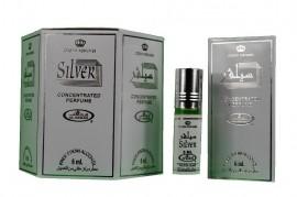 Silver 6ml by Al Rehab  Perfume Oil/Attar/Ittar Box of 6