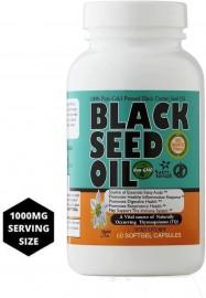 Black Seed (Cumin) Oil: 1,000 mg - 60 Softgels
