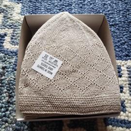 Off-White Kufi Cap,Kufi,Large size